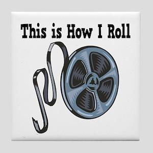 How I Roll (Movie Film) Tile Coaster