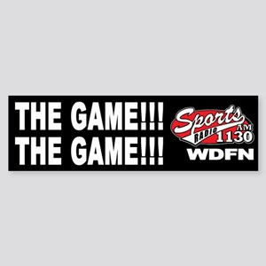 "WDFN ""The Game"" Black Sticker"