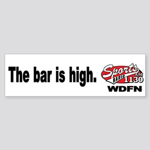 "WDFN ""Bar is High"" White Sticker"