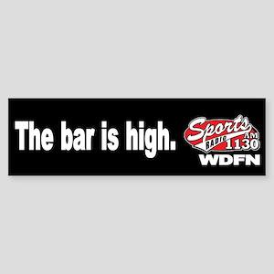 """WDFN """"Bar is High"""" Black Sticker"""