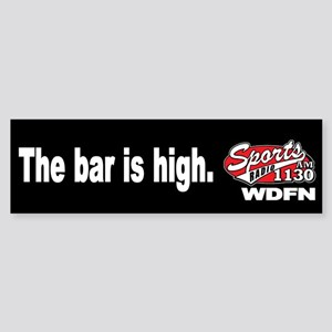 "WDFN ""Bar is High"" Black Sticker"