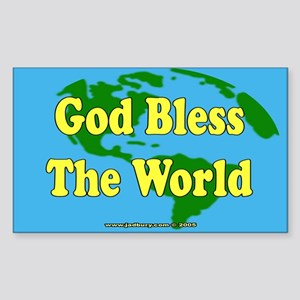 God Bless The World Rectangle Sticker