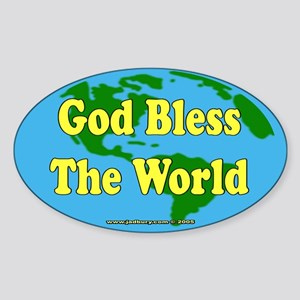 God Bless The World Oval Sticker