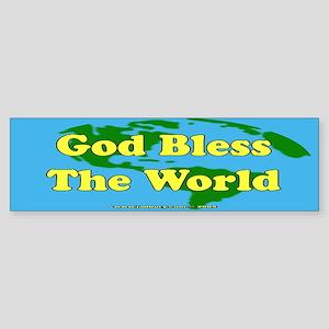 God Bless The World Bumper Sticker