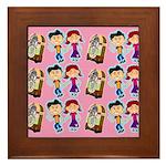 Sock Hop Kids Swanky Framed Tile