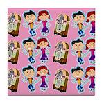 Sock Hop Kids Swanky Tile Coaster