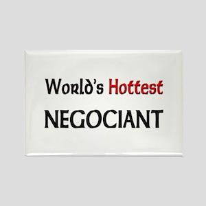 World's Hottest Negociant Rectangle Magnet