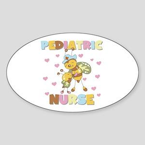 Bee Pediatric Nurse Oval Sticker