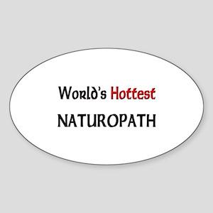 World's Hottest Naturopath Oval Sticker