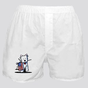 2008 JULY 4th Westie Boxer Shorts