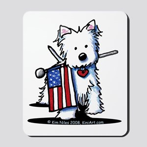 2008 JULY 4th Westie Mousepad