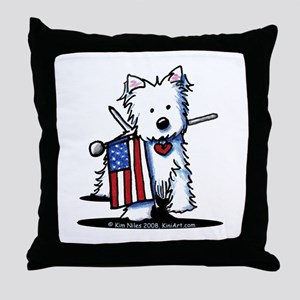 2008 JULY 4th Westie Throw Pillow