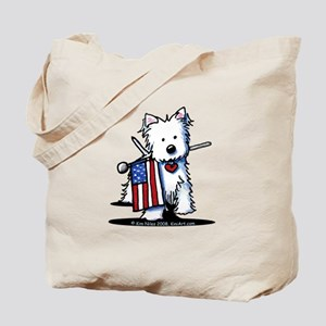 2008 JULY 4th Westie Tote Bag