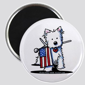 2008 JULY 4th Westie Magnet