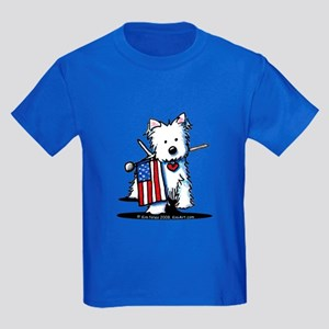 2008 JULY 4th Westie Kids Dark T-Shirt