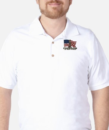 FREEDOM NOT FREE Golf Shirt