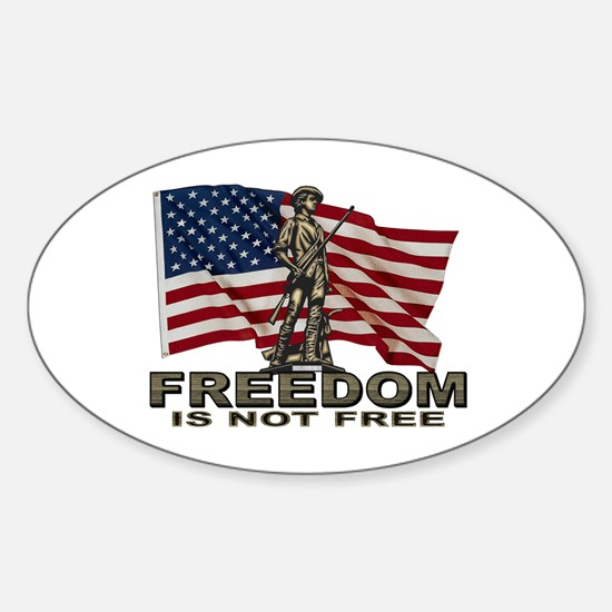 FREEDOM NOT FREE Oval Decal
