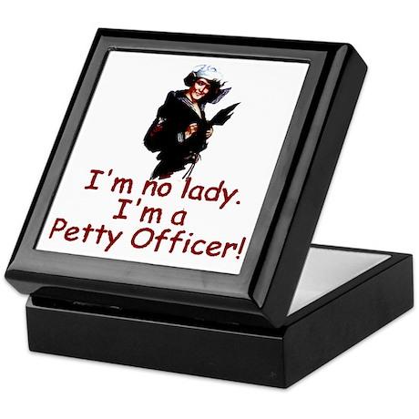 I'm No Lady Keepsake Box