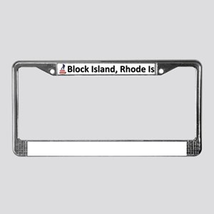 Block Island License Plate Frame