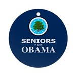 SENIORS FOR OBAMA Ornament (Round)