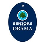 SENIORS FOR OBAMA Oval Ornament