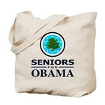 SENIORS FOR OBAMA Tote Bag
