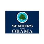 SENIORS FOR OBAMA Rectangle Magnet