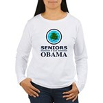 SENIORS FOR OBAMA Women's Long Sleeve T-Shirt