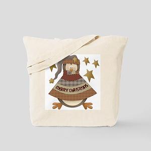 Merry Christmas Penguin Tote Bag