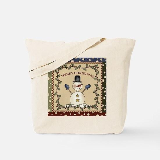 Waving Snowman Christmas Tote Bag