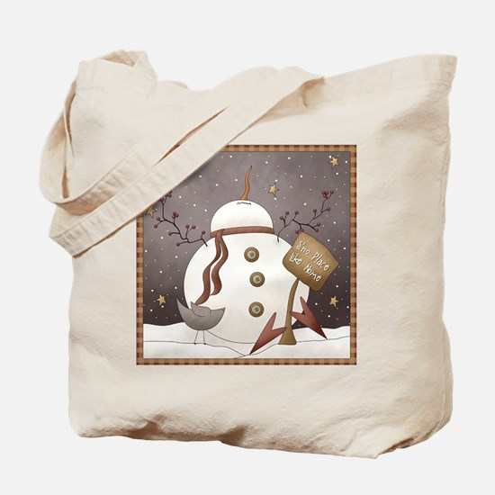 S'no Place Like Home Christmas Tote Bag