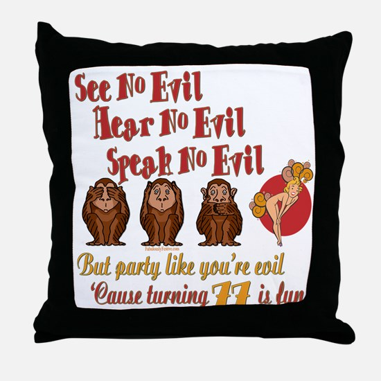 Party Girl 77th Throw Pillow