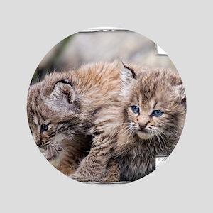 """Bobcat Kitten 3.5"""" Button"""