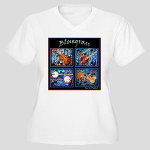 Bluegrass Women's Plus Size V-Neck T-Shirt