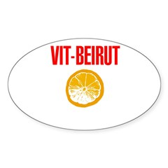 Vit-Beirut   Oval Decal