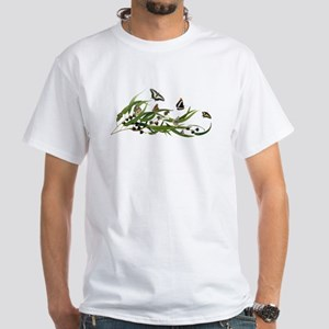 Eucalyptus Butterfies White T-Shirt