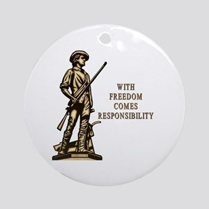 With Freedom(MM) Ornament (Round)