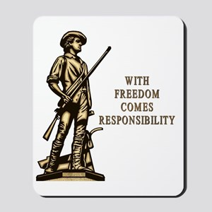 With Freedom(MM) Mousepad