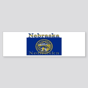 Nebraska State Flag Bumper Sticker