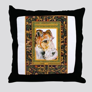 Vintage Fox Terrier Throw Pillow