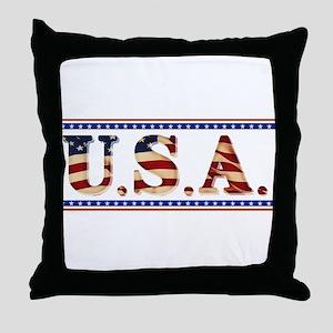 USA Stars/Strips Throw Pillow