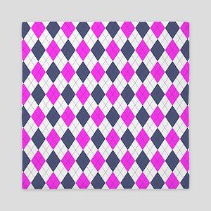 Pink & Purple: Argyle Pattern Queen Duvet