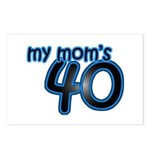 Mom Is 40 & Blue Postcards (Package of 8)