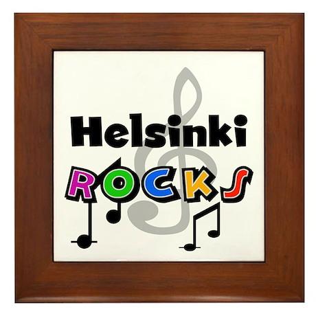 Helsinki Rocks Framed Tile