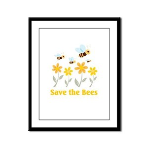 Save the Bees Framed Panel Print