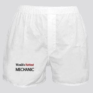 World's Hottest Mechanic Boxer Shorts