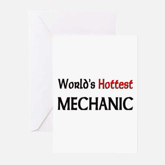 World's Hottest Mechanic Greeting Cards (Pk of 10)