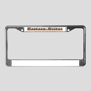 Western Writer License Plate Frame
