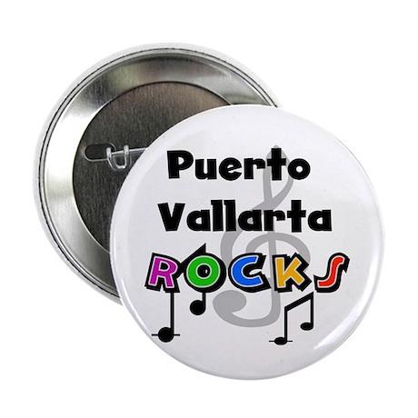 """Puerto Vallarta Rocks 2.25"""" Button"""