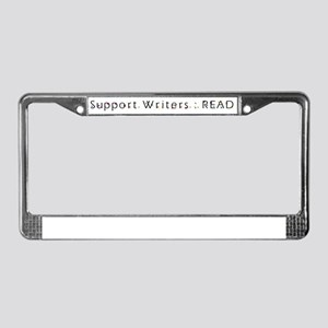 Support Writers : Read License Plate Frame